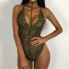 Sexy Women Lingerie Lace Dress  Underwear Sleepwear Nightwear Jumpsuit Babydoll