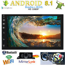 Universal Android Double 2Din Auto Radio 7'' Touch Screen Quad Core GPS WIFI+Cam