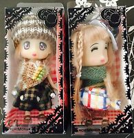 *Gift for her* Japanese Anime Cute Big Eye Dolls Keychain Figurine Set Of 2 (A)