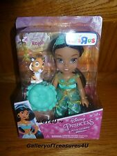 Disney Princess Petite Jasmine and Rajah Toddler Tiger Genie Doll 6 Inches 6""