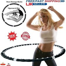 Weighted Hula Hoop Professional Fitness Magnetic Workout ABS Exercise Massager