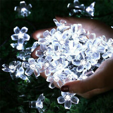 100 White LED Chasing Christmas Party Xmas Tree Fairy Lights Cherry Petal