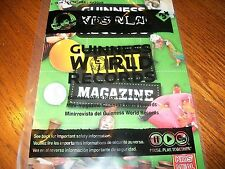 Wendy's Guinness World Records: Guiness Mini Magazine Kids Meal Toy 2013 LTD NIP