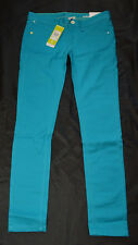 Adidas Neo Skinny Girls Col SKI J Stretch Jeans Hose S 36 W27 L32 NEU Türkis