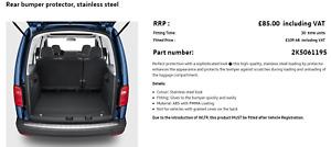 2k5061195 VW Caddy Mk4 rear bumper protector