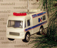 POLICE MOBILE COMMAND VEHICLE TRUCK CAR MOTOR HOME CHRISTMAS TREE ORNAMENT XMAS