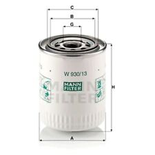 Mann W930/13 Oil Filter Spin On 114mm Height 93mm Outer Diameter Service