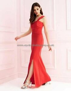 NEW LIPSY RED MAXI STRAP PLEAT DRESS