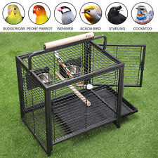 Iron Bird Parrot Cage 23 in Portable Finch Travel Carrier with Food & Water Dish