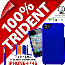 Trident Apollo Protective Hard Case Cover+Screen Protector for Apple iPhone 4 4S