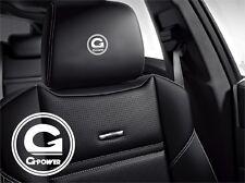 5x G-Power BMW Aufkleber für Ledersitze Logo