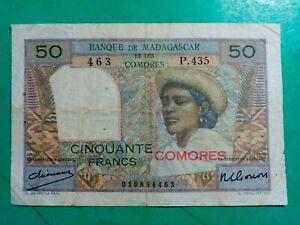 BILLET de banque MADAGASCAR et COMORES -   Réf. 56  --  92