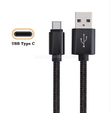 Strong Nylon Braided Micro USB Data Charger Cable for Samsung Galaxy A3 2016 1m 1 Metre Black