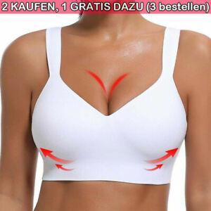 Frauen Bustier Sport BH Push Up Ohne Bügel Unterwäsche Joggen Tank Bra Joggen