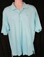 Peter Millar Polo Golf Shirt Light Blue Men's Size Large