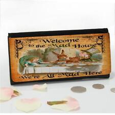 Alice In Wonderland Mad Hatter Ladies Large Money Old Coin Purse Mum Gift AW06