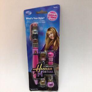 Vintage Hannah Montana Design Your Own Pen! 12 Bonus Interchangeable Beads!