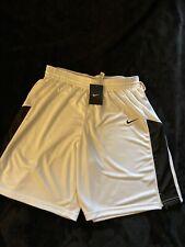 Nike Ladies Basket Ball Shorts Size Large White / Black Nike Check