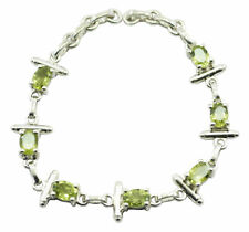 Green 925 Sterling Silver genuine appealing Peridot general Bracelet AU
