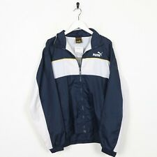 Vintage Kids PUMA Small Logo Soft Shell Windbreaker Jacket White XL