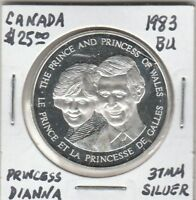 (X)  Token - Canada - The Prince and Princess of Wales - 1983 BU - 37 MM Silver