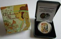 Niger 1000 Francs 2012 L'Art de Alphonse Mucha Silber