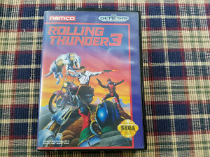 Rolling Thunder 3 - Authentic - Sega Genesis - Case / Box Only!