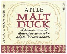 Apple Malt Duck Label
