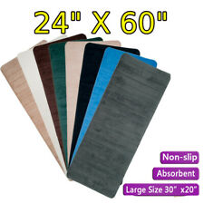 Soft Microfibre Non Slip Absorbent Bath Mat Bathroom Shower Rugs Carpet Long Rug