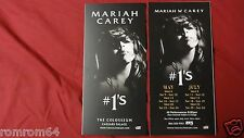 2x Mariah Carey The Colosseum Caesars Palace The #1s Hits Las Vegas Flyer 2015