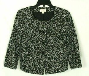 Ann Taylor Women's Blazer Black Jacket Size 8P
