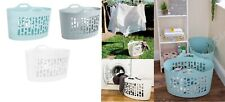 Laundry Basket Plastic 50L Flexi Washing Clothes Flexible Storage Bin Home New