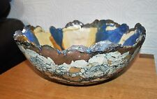 Lovely Unusual Handmade Old Colwyn Ceramics Welsh Art Pottery Large Bowl