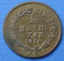 1814 Deutsches Reich Germany - 1/4 kreuzer 1814 Nassau - KM# 9