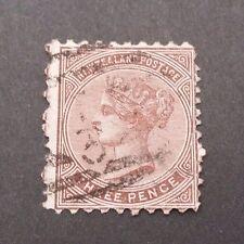 NZ 1874 3D 1ST SIDEFACE PERF 12 1/2 x 10 FU SG161