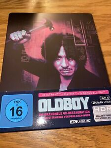 OLDBOY OLD BOY 2003 4K ULTRA HD UHD BLU-RAY LIMITED EDITION STEELBOOK EU IMPORT