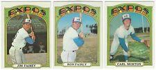 7 1972 TOPPS BASEBALL MONTREAL EXPOS CARDS - NEAR MINT/MINT (SEMI-HI/FAIRLY+++)