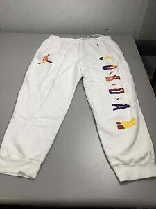 Men's Air Jordan White Sweatpants Size 2XL