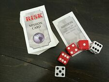 1998 Risk Replacement Pieces - Mission Cards & Dice