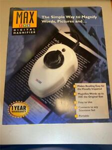 NEW Max Enhanced Vision System Digital Magnifier TV or PC Hook UP Portable