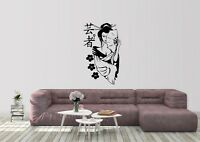 Geisha Girl Inspired Design Japanese Home Decor Wall Art Decal Vinyl Sticker