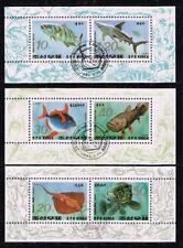 *NL*1337.Korea 1993. Gestempeld. Drie velletjes met vissen. Goedkoop
