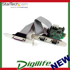 StarTech 2s1p Native PCI Express Parallel Serial Combo Card With 16550 UART - PC