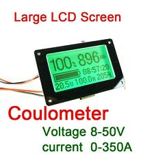 Capacity Tester coulometer F/ 8-50V 350A Lithium/Lead-acid Battery Voltmeter AMP