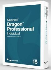 New Nuance Dragon 15 Professional Individual 15.0 D0WNL0AD w/ FREE Back-Up Disc