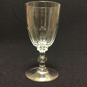 Baccarat Saint Louis H 12,2 Glass To Wine Crystal Carved XIX Th