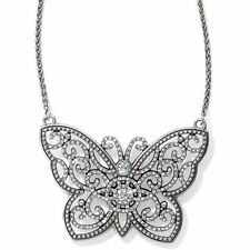 Brighton ~ILLUMINA BUTTERFLY Silver Crystal LARGE Necklace~JL7751~NWT $118