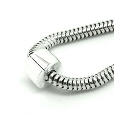 TAPPO Clip/Lock-Pianura-Hinged-Solido 925 argento Sterling Charm Bead Europeo
