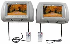 "Tview T726PL-GR 7"" Grey Pair (2) LCD Car Headrest TV Monitor w/ IR Transmitter"