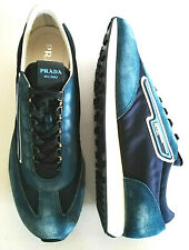 PRADA men's shoes suede 2019 collection authentic PRADA bleu 10.5UK/ US11.5